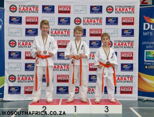 2018 Kyokushin Karate SA Champs all podium images